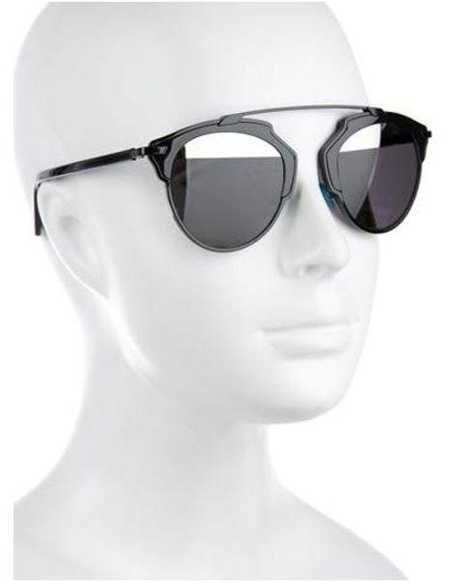 998d0ed9936 ... Dior - Metallic Diorsoreal Tinted Sunglasses Black - Lyst