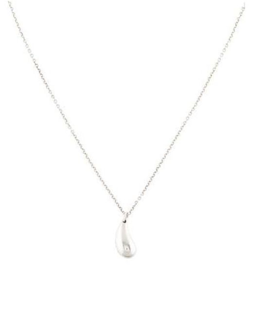 b5c76702a Lyst - Tiffany & Co Teardrop Pendant Necklace Silver in Metallic ...