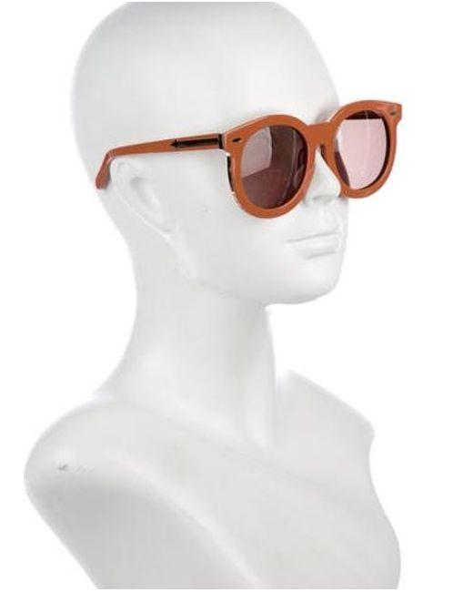 ba86822f08bd ... Karen Walker - Metallic Super Duper Thistle Sunglasses Gold - Lyst