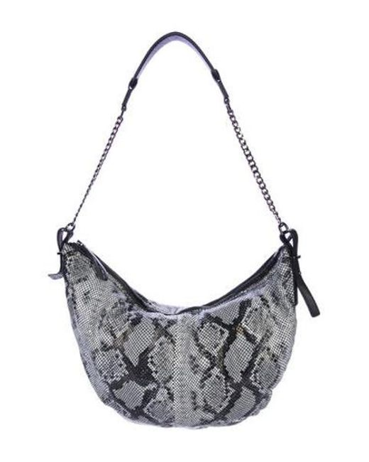 5844f70aed Halston Heritage - White Embossed Chain Hobo - Lyst ...