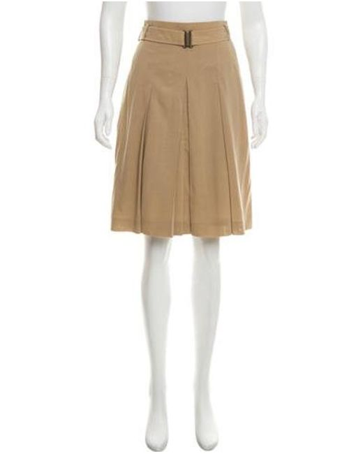 1b3b378d1 Akris Punto - Natural Wool Knee-length Skirt Khaki - Lyst ...