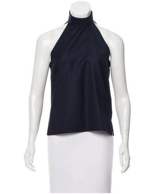 Pallas - Blue Wool Pinstripe Top Navy - Lyst