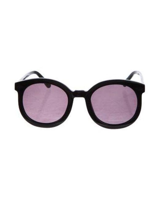 bf16416a5485 Karen Walker - Black Super Duper Strength Tinted Sunglasses - Lyst ...