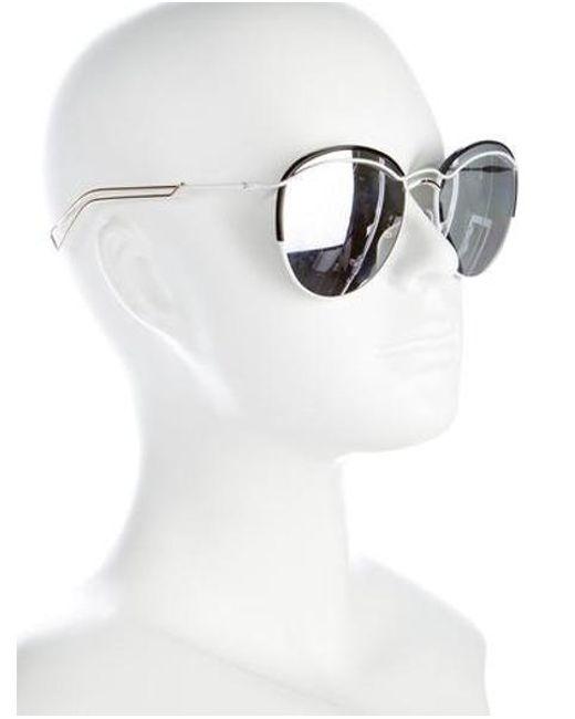 4ed8fc0582f ... Dior - Metallic Dioround Reflective Sunglasses White - Lyst