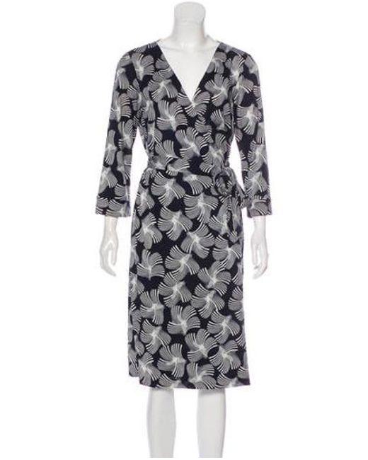 ce65f01e09f7 Diane von Furstenberg - Blue New Julian Two Silk Midi Dress Navy - Lyst ...