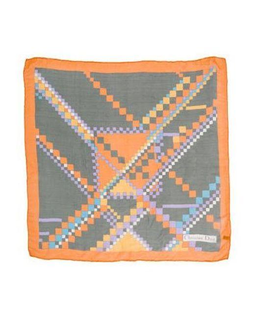 Dior - Multicolor Silk Printed Scarf Orange - Lyst
