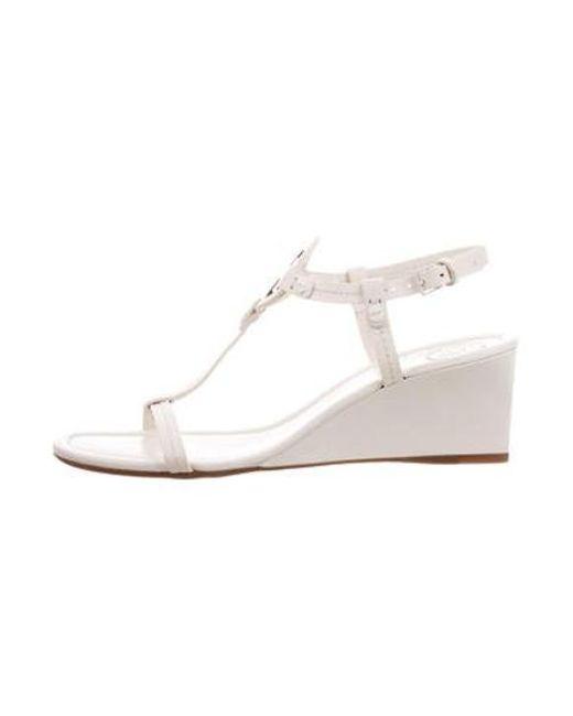 af41ff10f469 Tory Burch - Natural Miller Wedge Sandals Neutrals - Lyst ...