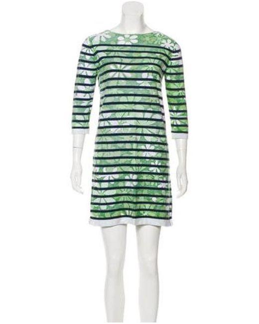 b75df2fa29fa Marc Jacobs - Green Long Sleeve Mini Dress - Lyst ...