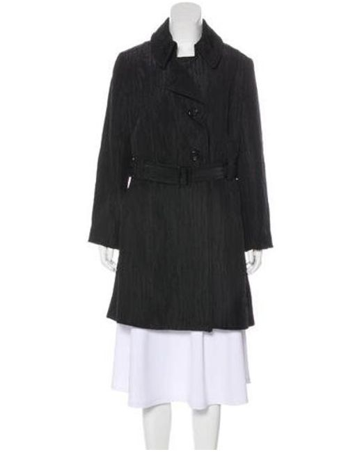 6e8c10d88cb48 MICHAEL Michael Kors - Black Michael Kors Textured Knee-length Coat - Lyst  ...
