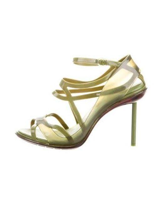 16429a7e11c3 Melissa - Green Multistrap Rubber Sandals - Lyst ...