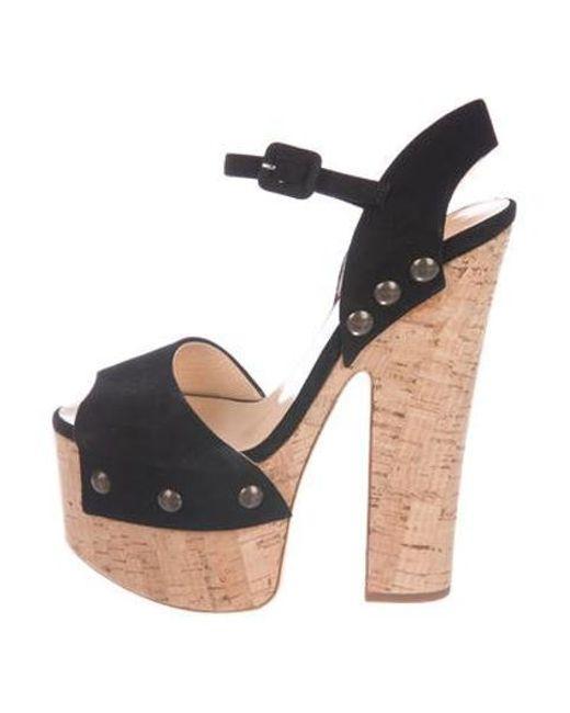 df6c262d20e Giuseppe Zanotti - Metallic Platform Ankle Strap Sandals Black - Lyst ...