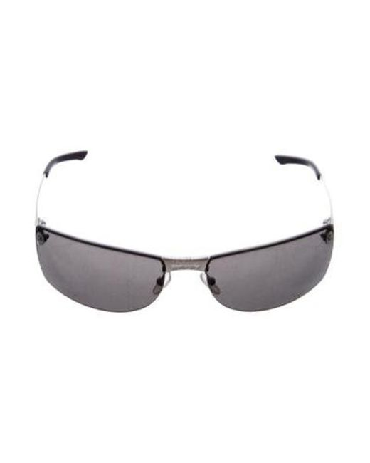 82c6eadb780 Dior - Metallic Rimless Narrow Sunglasses Silver - Lyst ...
