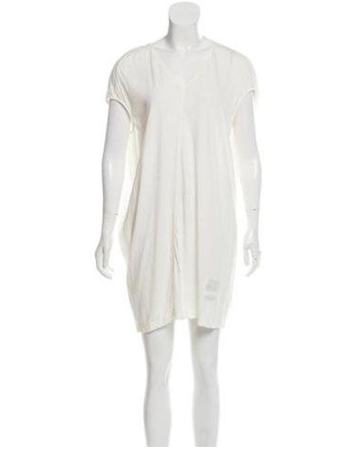 a7dcde6958a18 Rick Owens Drkshdw - White Short Sleeve Shift Dress - Lyst ...