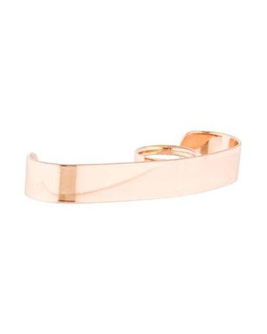 Maison Margiela - Metallic Knuckle Ring Rose - Lyst