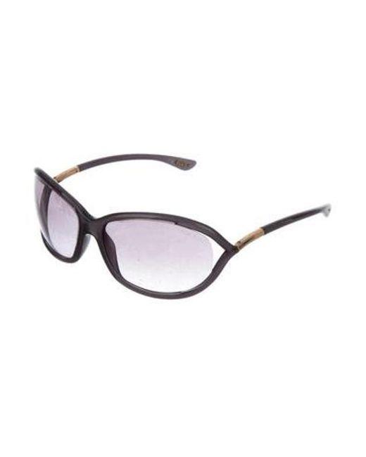 888476c569 ... Tom Ford - Metallic Jennifer Gradient Sunglasses Gold - Lyst ...