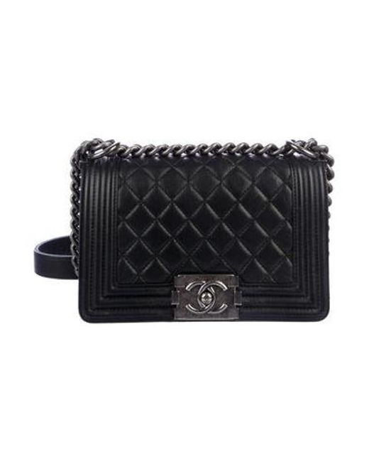 834457a0cb7 Chanel - Metallic Small Boy Bag Black - Lyst ...