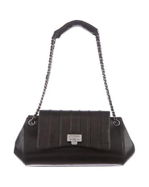 a6c3dba1f07f Chanel - Metallic Vertical Quilted Accordion Bag Black - Lyst ...
