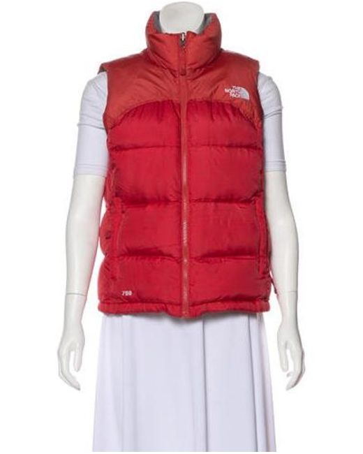 The North Face - Red Down Puffer Vest - Lyst ... 0512e5b8e