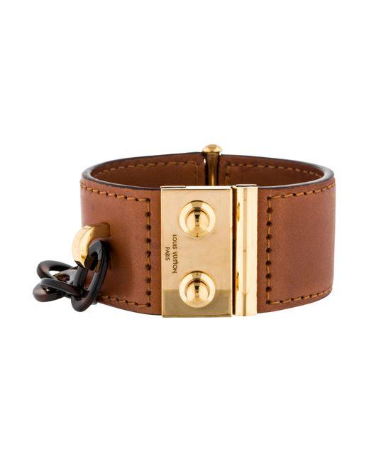 Louis Vuitton | Metallic Lock Me Nomade Cuff Bracelet Gold | Lyst