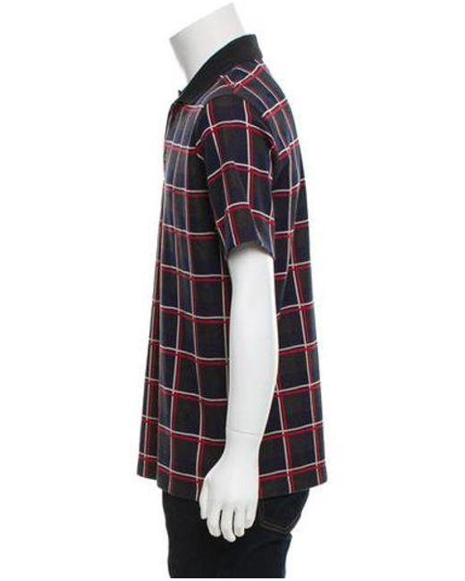 7914a34b5664 ... Louis Vuitton - Red Plaid Polo Shirt for Men - Lyst ...