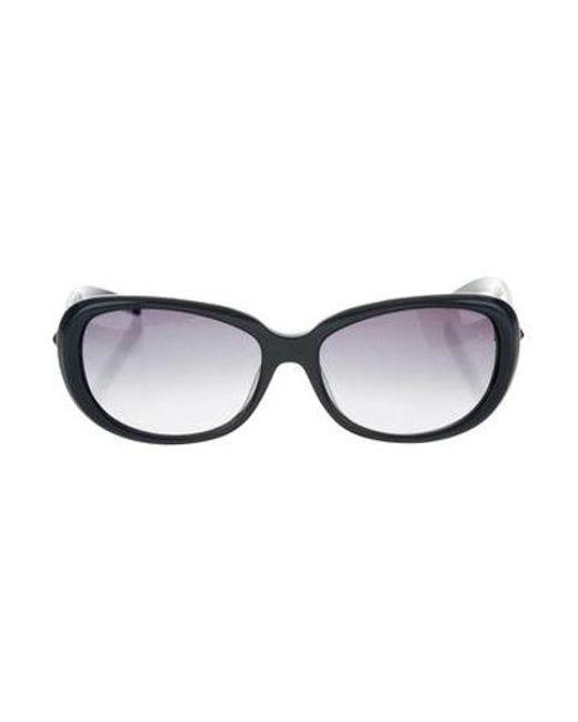 16f330db574 Jil Sander - Blue Round Tinted Sunglasses - Lyst ...