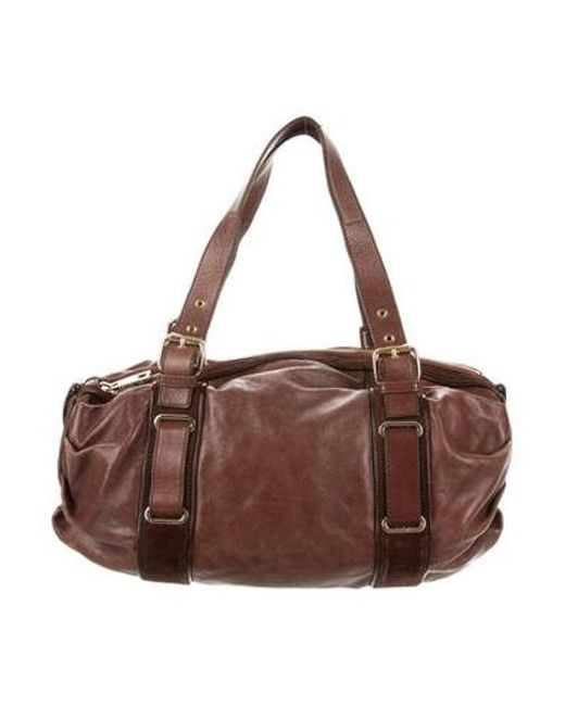 afd7f4817f8c Marc Jacobs - Metallic Leather Shoulder Bag Brown - Lyst ...