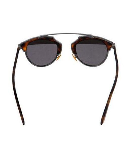 70a821c62e ... Dior - Brown So Real Tortoiseshell Sunglasses - Lyst ...