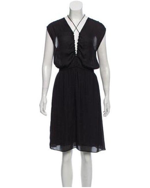 Lyst Toile Isabel Marant Plunging Neckline Midi Dress In Black