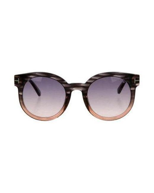ccdb7f75910 Tom Ford - Metallic Janina Gradient Sunglasses Brown - Lyst ...