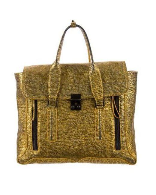 3 1 Phillip Lim Metallic Leather Pashli Bag Lyst