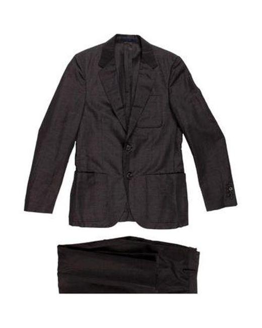 Lanvin - Natural Classic Two-piece Suit Grey for Men - Lyst