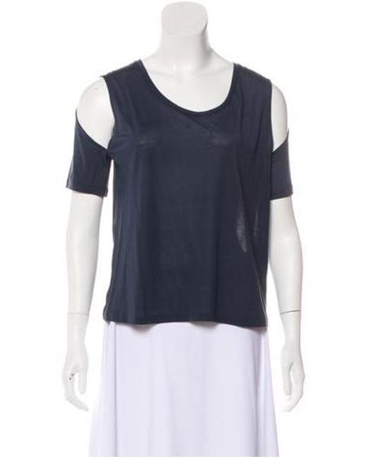 47ede560252ba Lyst - 3.1 Phillip Lim Scoop Neck Short Sleeve T-shirt W  Tags in Blue