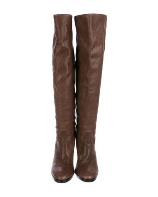 862713a2fa6 ... Michael Kors - Brown Leather Knee-length Boots - Lyst ...