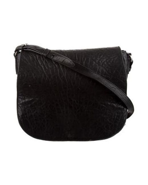 c12c56c12 Alexander Wang - Metallic Lia Messenger Bag Black - Lyst ...