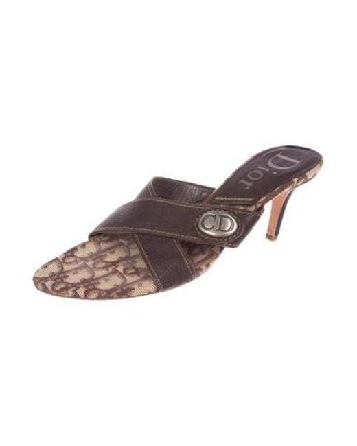 a6f0e79ca78 ... Dior - Metallic Diorissmo Round-toe Sandals Brown - Lyst ...