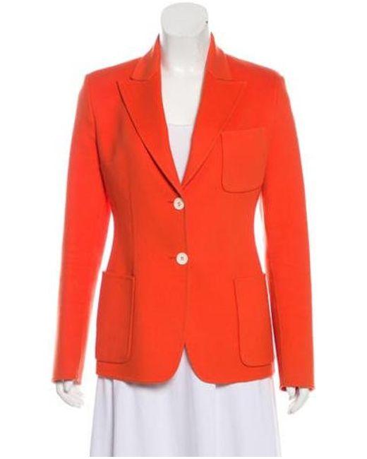 Michael Kors - Wool Button-up Jacket Orange - Lyst