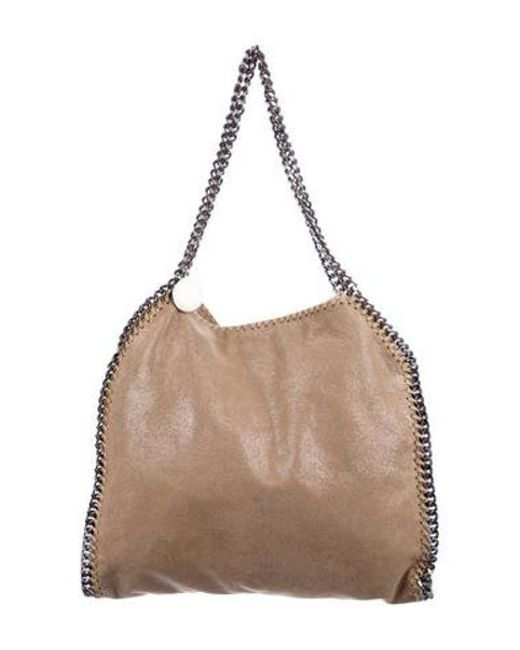 074708e9bc1 Stella McCartney - Natural Metallic Shaggy Deer Falabella Tote Beige - Lyst  ...