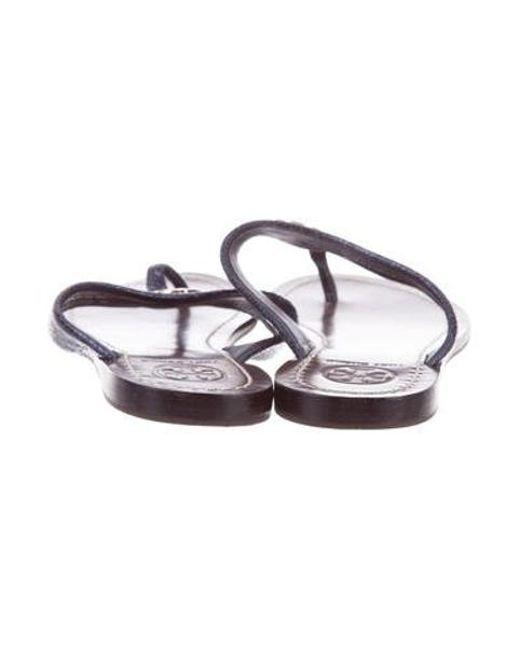 8bfb302f1e863 ... Tory Burch - Metallic Reva Sandals - Lyst