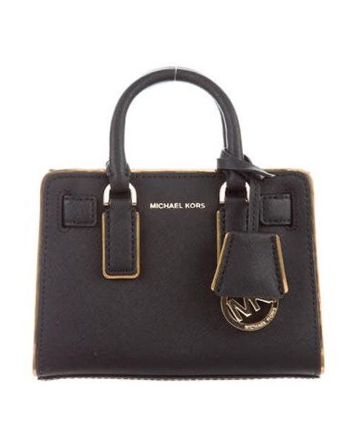 a62f1acfcb8b MICHAEL Michael Kors - Metallic Michael Kors Textured Leather Top Handle  Crossbody Bag Black - Lyst ...