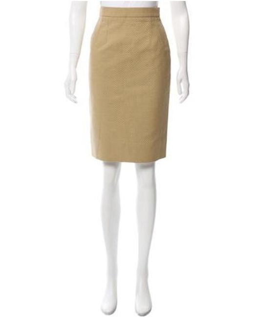 Givenchy - Natural Quilted Pencil Skirt Khaki - Lyst