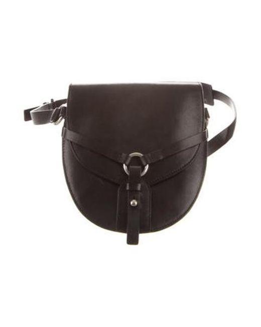 Michael Kors Metallic Saddle Leather Waist Bag Silver Lyst