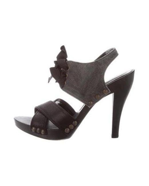 97ce4ad0219 Stella McCartney - Gray Vegan Lace-up Sandals Black - Lyst ...