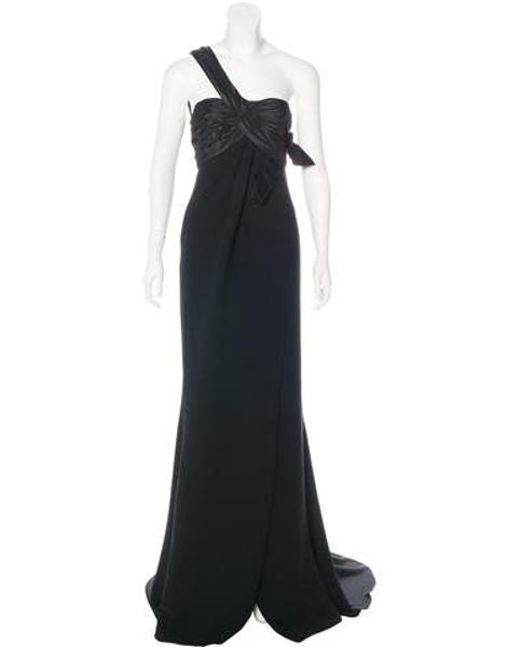Elie Saab - Black One-shoulder Silk Gown W/ Tags - Lyst