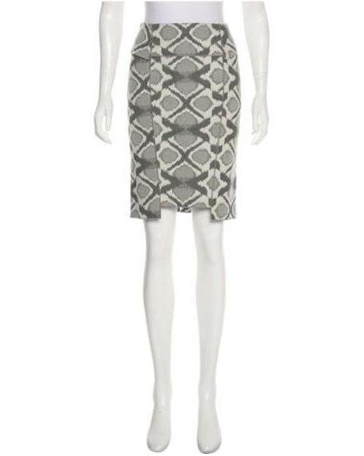 790778d2fb Roland Mouret - Gray Geometric Knee-length Skirt White - Lyst ...