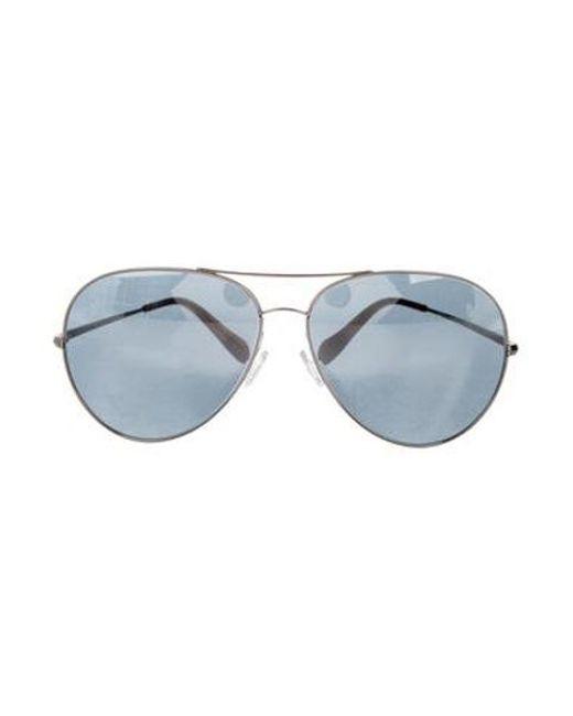 795fce971 Oliver Peoples - Metallic Sayer Aviator Sunglasses Silver - Lyst ...