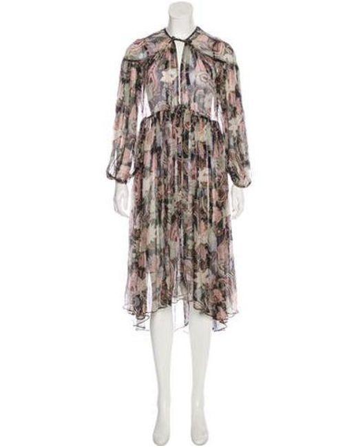 f93622c8e4 Zimmermann - Black Silk Midi Dress - Lyst ...