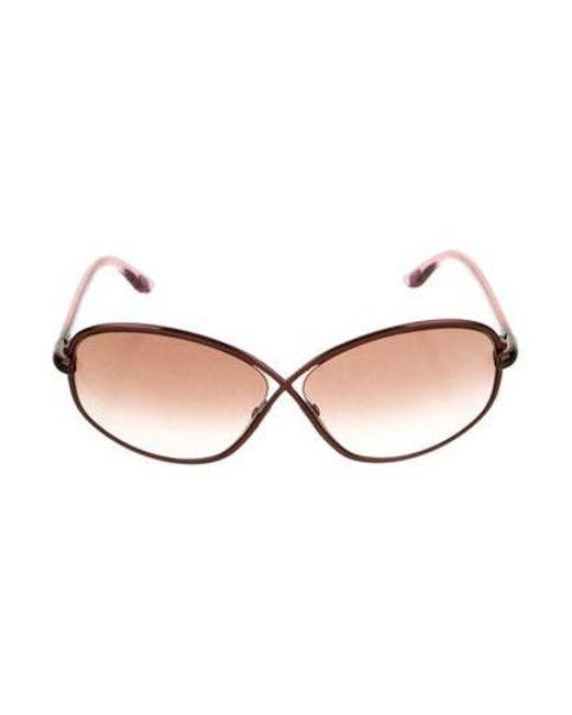 0226d40f0962 Tom Ford - Brown Brigette Oversize Sunglasses - Lyst ...