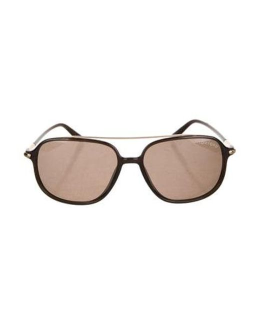 54f06f0ee6f Tom Ford - Metallic Sophien Tinted Sunglasses Brown for Men - Lyst ...