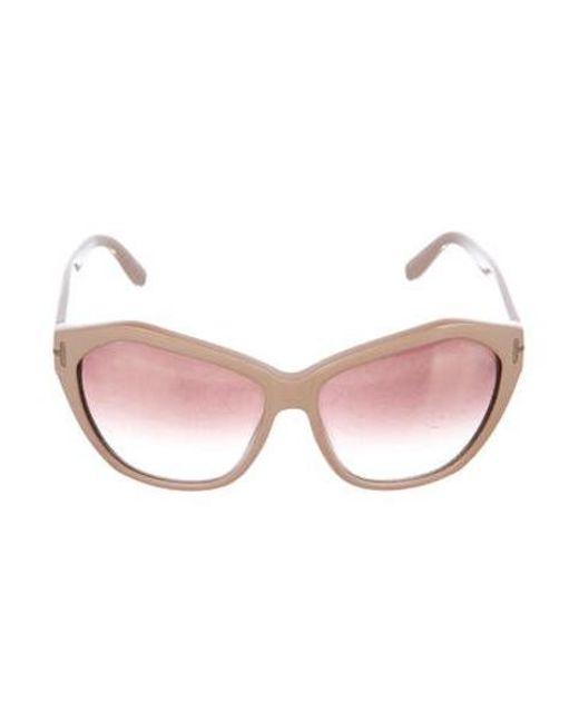 58121195299e3 Tom Ford - Metallic Oversize Gradient Sunglasses Gold - Lyst ...