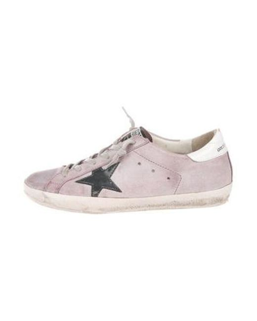 891f9c65a55 Golden Goose Deluxe Brand - Metallic Superstar Low-top Sneakers Purple -  Lyst ...